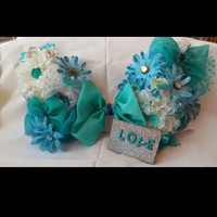 Bows and Daisies custom rave bra