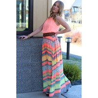 Printed Party Beach O-neck Long Dress = 1838816644