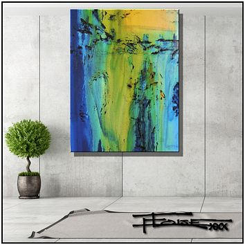 Large Abstract Painting Modern Canvas Wall Art Limited Edition  BIG SPLASH by ELOISExxx