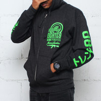 Tsunami Zip Up Hoodie Coal