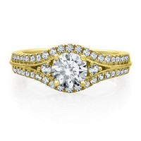 Helzberg Diamond Symphonies® 1/2 ct. tw. Diamond Semi-Mount Engagement Ring in 14K Gold - Create Your Own Ring - Design Your Own - Helzberg Diamonds