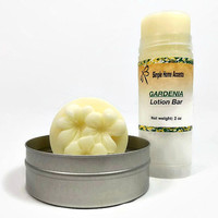 Gardenia Lotion Bar - Tin or Tube - Natural Lotion - Flower Lotion - Gift under 10