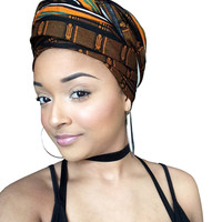 Gorgeous Brown Headwrap