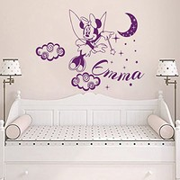 Mickey Mouse Wall Decals Personalized Name Girl Decal Stars Vinyl Moon Sticker Baby Nursery Decor Room Art Interior Design Murals MN787