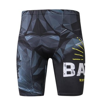 Compression Shorts Men Fashion Superhero Jogger Skinny Bodybuilding Shorts Fitness Uomo Mens Summer Beach Board Shorts