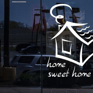 Window and Wall Stickers Vinyl Decal Quote Message Home Sweet Home (z1738w)