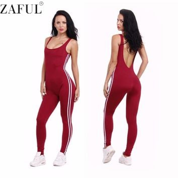 New Summer Sport Yoga Set Sexy U-neck Backless Women Closed-Fitting Jumpsuit