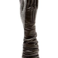 Wool And Leather Knit Gloves by Rochas Now Available on Moda Operandi