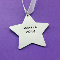 Personalized Christmas Ornament - Small Personalized Star Ornament - Christmas Keepsake