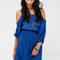 No Shoulders Dress in Royal Blue :: tobi