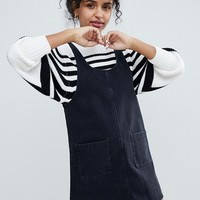 Monki Denim Pinny Dress at asos.com