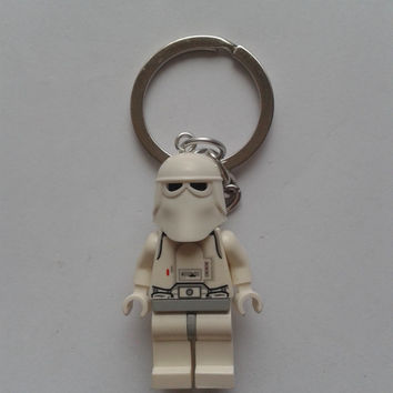 Star Wars Snowtrooper  minifigure keychain keyring made with LEGO® bricks