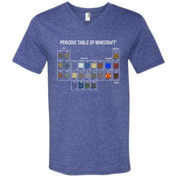 Minecraft Periodic Table T shirt 982 Anvil Men's Printed V-Neck T-Shirt