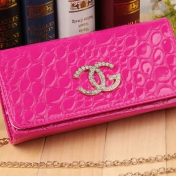 GUCCI fashion woman wallet with chain ladies' handbag with long hand bag