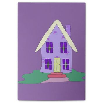 charming painted house post-it® notes