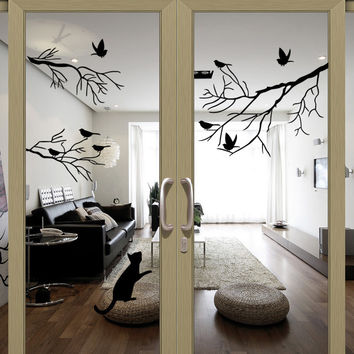 Glass Living Room Bedroom Wall Sticker Stickers [6043630785]