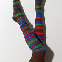 Candy Stripe Thigh High Socks Scandinavian Pattern