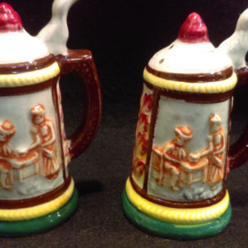Stein Style Salt and Pepper Shakers  (1231)