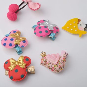High Quality Kids Hair Clips  Crown Bird Girls Clip Bow Hairpin Barrette Hair accessories L0060