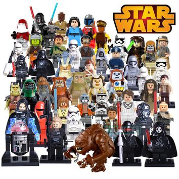 Building Block PG8095 Star Wars Red Snow Soldiers Santa Jango Fett Darth Vader Captain Phasma Kylo Ren Kallus Figures Kids Toys
