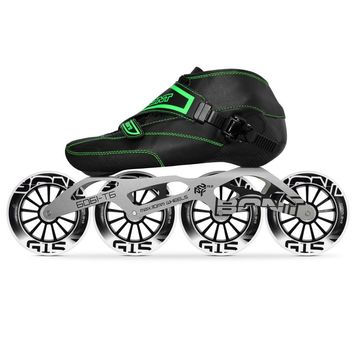 100% Original Bont Enduro 2PT Speed Inline Skates Heatmoldable Carbon Fiber Boot 195mm 6061 Frame 4*90/100/110mm Wheels Patines