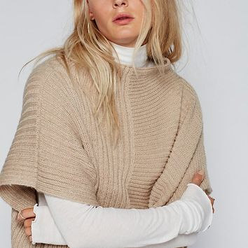 Free People Camden Mix Ribbed Poncho