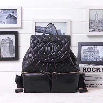 Chanel Women's 2018 Hot Style Leather Backpack Bag