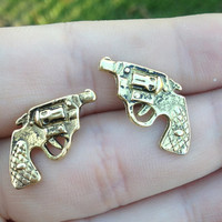 Pistol Earrings from Country Wind
