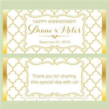 Moroccan Anniversary Candy Bar Wrappers