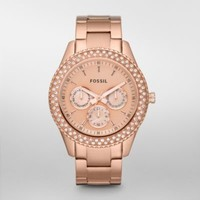FOSSIL® Features A Touch Of Rose:Womens Stella Stainless Steel Watch - Rose ES3003
