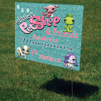 "Birthday Lawn Sign-Party Lawn Sign-Personalized-Custom Lawn Signs-(27"" x 18"")"