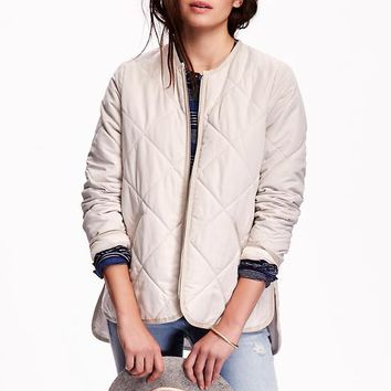 Old Navy Quilted Zip Front Jacket