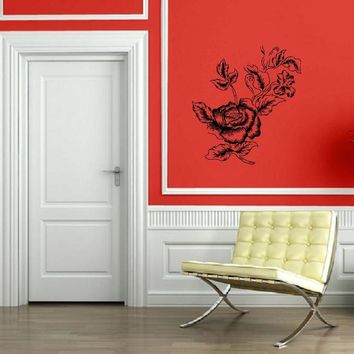 Peony Asian Flower Decorative Floral Bouquet Wall Mural Vinyl Art Sticker Unique Gift M609