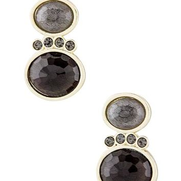 Double Stacked Round Jewel Earrings