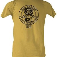 Karate Kid All Valley '84 Gold 80s Movie TV Cotton Adult T Shirt