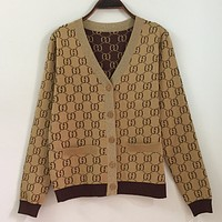 GUCCI 2018 spring new letter high-quality sweater shirt