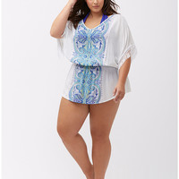 Fringed paisley swim cover-up | Lane Bryant