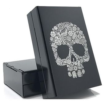 Skull 💀 🚬 Aluminum Alloy Cigarette Box Case