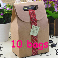 Kraft gift bags in set  kraft paper bags kraft bag bridal shower gift bags kraft gift box Occasion Event Party paper bag paper gift bag