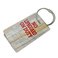 No Lifeguard on Duty Swim at Your Own Risk Luggage Tag Set