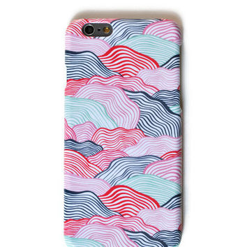 colorful waves iphone 6 case Galaxy S4 mini Galaxy S5 mini case Samsung Note 3 Samsung Note 4 case Galaxy S6 Edge case LG G3 case LG G4 case