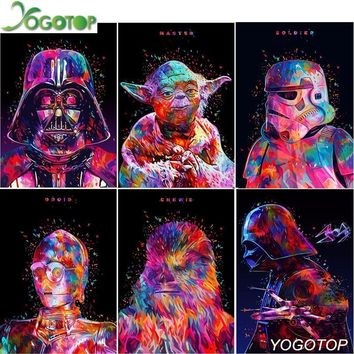 Star Wars Force Episode 1 2 3 4 5 YOGOTOP Needlework DIY 5D Diamond Painting Cross Stitch Kits  Full Mosaic Diamond Embroidery Home Decor CV465 AT_72_6