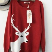 Big Reindeer Vintage Sweater 78