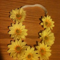 Yellow Field of Daisys Headband from Diamond Life Boutique