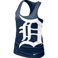 Nike Women's Detroit Tigers Navy Racerback Tank Top