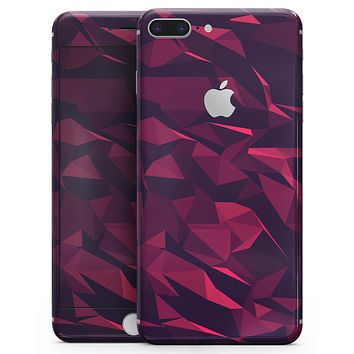 Red Chiseled Geometric Shapes - Skin-kit for the iPhone 8 or 8 Plus