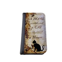 Cat quote iPhone 6 (4.7 inch) PU Leather Wallet Case By caseOrama A home without a cat is just a house
