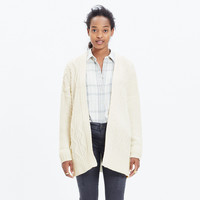Panelstitch Cardigan Sweater