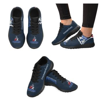 New England Patriots 6X Champs Sneakers Men Women Kids| Navy/Red Running Shoes