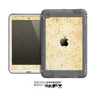 The Vintage Golden Tiny Polka Dots Skin for the Apple iPad Mini LifeProof Case